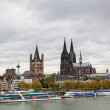 Rhine Embankment in Cologne — Stock Photo