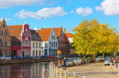 Channels of Bruges — Stock Photo