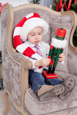 Little boy with nutcracker — Stok fotoğraf