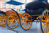 Carriages for tourists — Stock Photo
