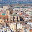 View from height to Granada, Spain — Stock Photo