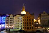 Historical center at night, June 11, 2012 Prague, Czech Republic — Stock Photo
