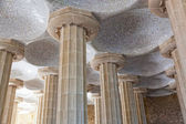 Room of 100 Columns in Gaudi's Parc Guell in Barcelona in the Catalonia region of Spain — Stock Photo