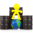 World supremacy concept oil-extracting the companies — Stock Photo
