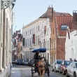 Driver to carry tourists down the street , Bruges, Belgium — Stock Photo #38786177