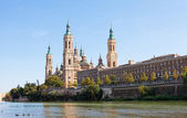 Basilica Del Pilar in Zaragoza , Spain — Stock Photo