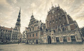 St.Peter Church and House of the Blackheads — Stock Photo