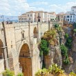 New bridge and houses on the edge of an abyss in the city Rhonda, Spain — Stock Photo #40076321