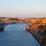Portugal. Porto city. View of Douro river embankment — Stock Photo