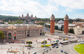 Espanya Square in Barcelona. — Stock Photo
