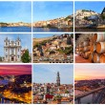 Set of photos with city views of Porto, Portugal — Stock Photo #40509301