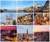 Set of photos with city views of Porto, Portugal — Stock Photo