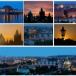 Card with night views of Prague — Stock Photo #41112979