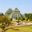 Front side of palm house in Schonbrunn Garden in Vienna — Stock Photo
