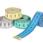 Multi-colored tape-line — Stock Photo