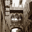 Stock Photo: Gothic quarter in Barcelona, Spain