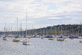 Yachts on the lake, Geneva. — Stock Photo