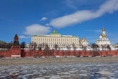 Russia, Moscow, type to the Moscow Kremlin — 图库照片