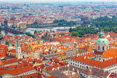 Historical districts of Prague from an observation deck — Stock Photo