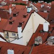Prague red roofs — Stockfoto