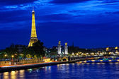 Eiffel tower at night — Foto Stock