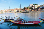 Old Porto and boats — Foto Stock
