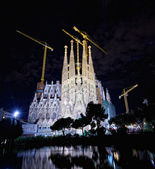 The Basilica of La Sagrada Familia — Stock Photo