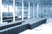 Finished goods warehouse at plant — Stock Photo
