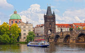 View of Karlov Bridge — Stock Photo