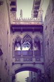 Gothic quarter in Barcelona, Spain — Stock Photo
