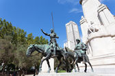 Madrid. Monument to Cervantes — Foto Stock