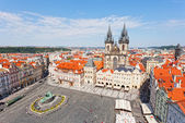 Cityscape of Old Town Square in Prague — Stock Photo