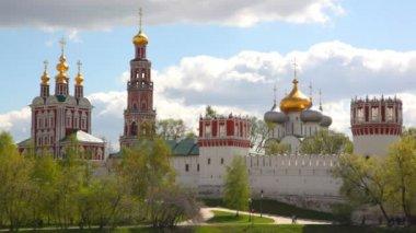 Novodevichy manastırı, moskova, rusya. — Stok video
