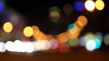 Stoom van auto's op de straat van de grote stad — Stockvideo