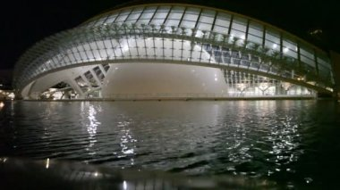 Hemisferic The City of Arts and Sciences Valencia — Stock Video