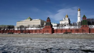 Russia, Moscow, type to the Moscow Kremlin — Wideo stockowe