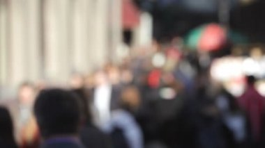 Crowd of going people,blurred — Stock Video