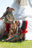Two North American Indians — Stock Photo