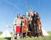 Four North American Indians — Stock Photo