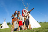 Three North American Indians — Stock Photo