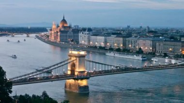 Evening Budapest — Stock Video