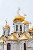 Gold domes of Annunciation Cathedral — Stock Photo