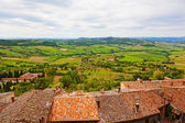 View of Val d'Orcia valley — Stok fotoğraf