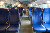 Interior of the train  in Europe — Stock Photo