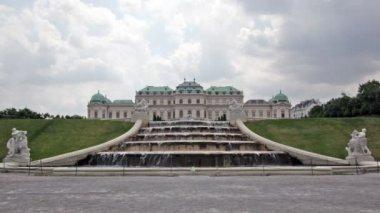 Belvedere palace i wien — Stockvideo