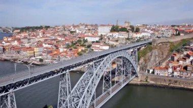 Bridge of Luis I over Douro river ,Portugal — Stock Video