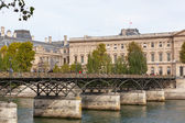 Pont des Arts through Seine — Стоковое фото