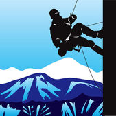 Mountaineering — Stock Vector