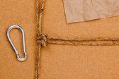 Liny i karabińczykiem — Zdjęcie stockowe