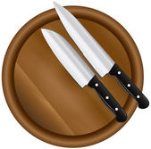 Two kitchen knives — Stock Vector